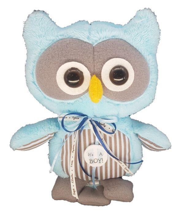Stuffed light blue owl