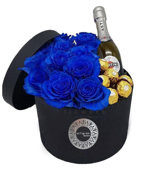 Μπλε δώρο σε κουτί