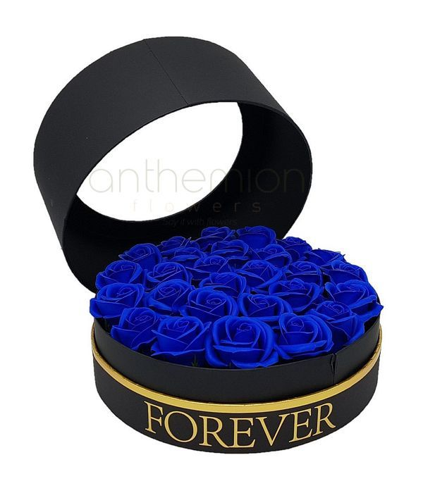Forever box and blue soap roses