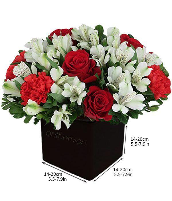 Κύβος με αλστρομέριες και τριαντάφυλλα