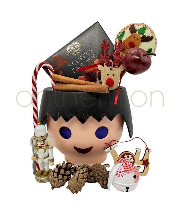 Christmas gift for children with chocolates