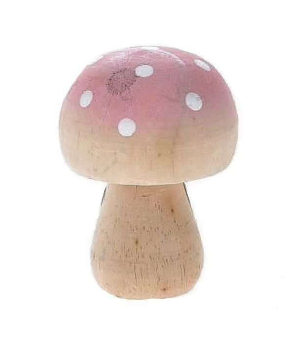 Wooden Pink Mushroom 5x7 cm
