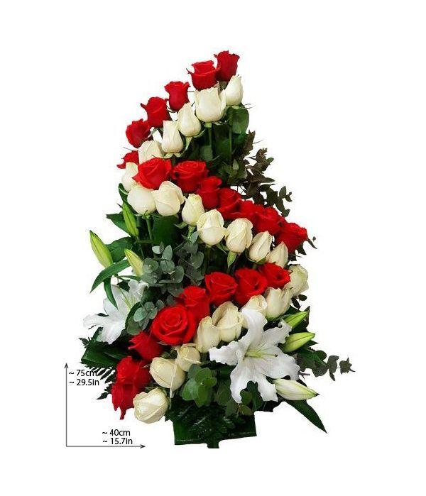 Special tall rose arrangement