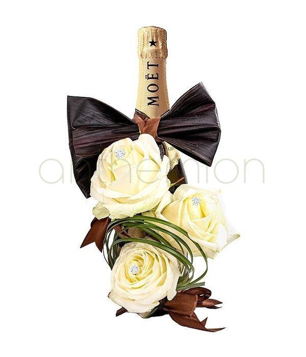 Moet 700ml με λευκά τριαντάφυλλα