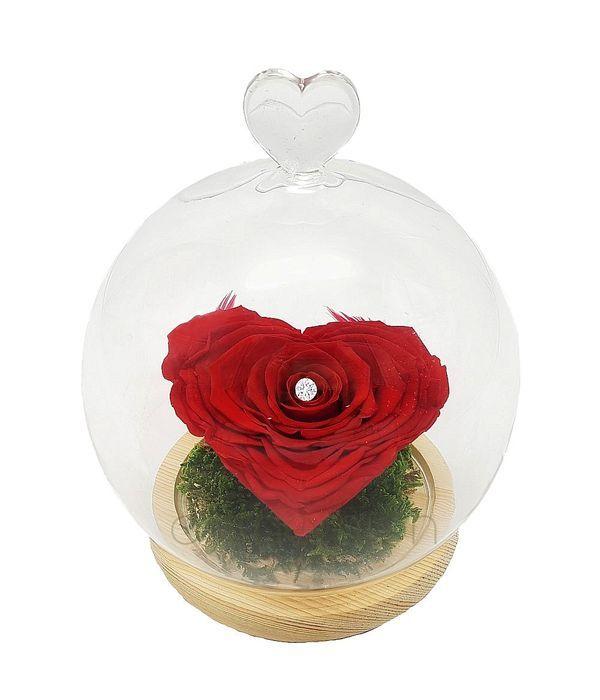 Παντοτινό τριαντάφυλλο σε σχήμα καρδιάς (XL μέγεθος)