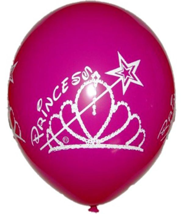 """Φούξια λάτεξ μπαλόνι """"Πριγκίπισσα"""" 30εκ."""