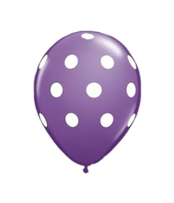 Lilac latex balloon with dots 30cm.