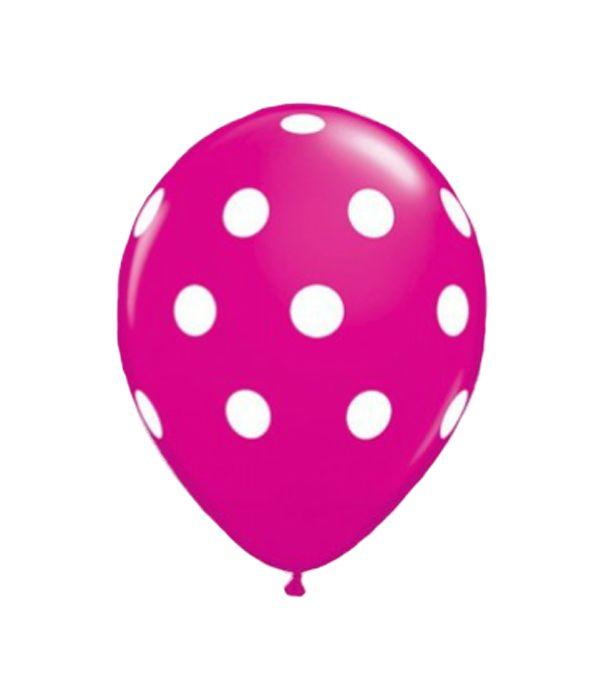 Φούξια λάτεξ μπαλόνι με βούλες 30εκ.