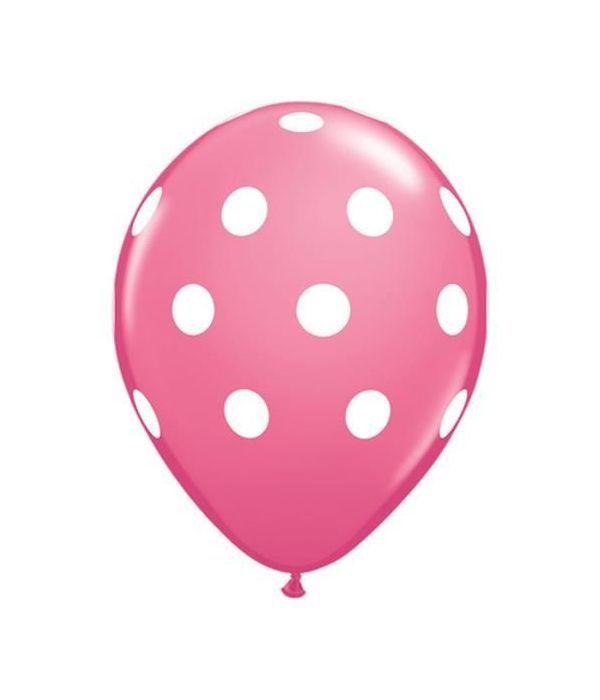 Ροζ μπαλόνι με βούλες 30εκ.