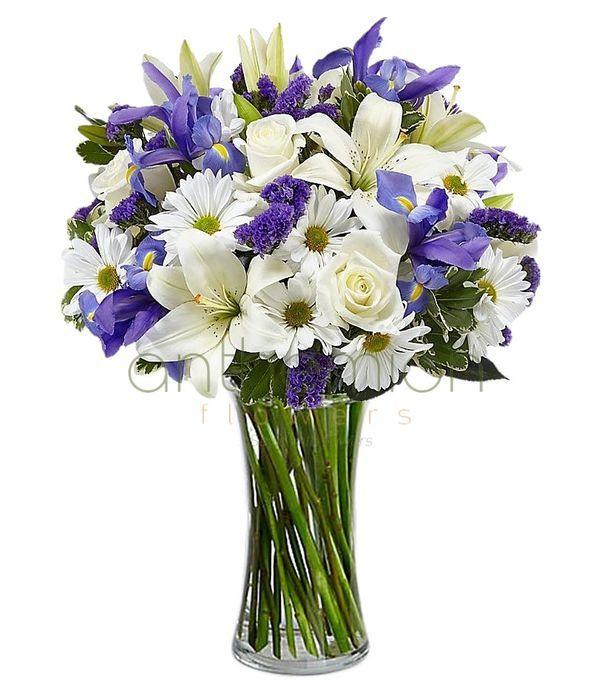 Bouquet in white/blue