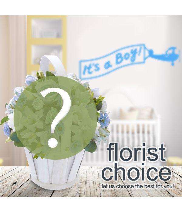 Designer's Choice. Bouquet for Newborn Baby Boy