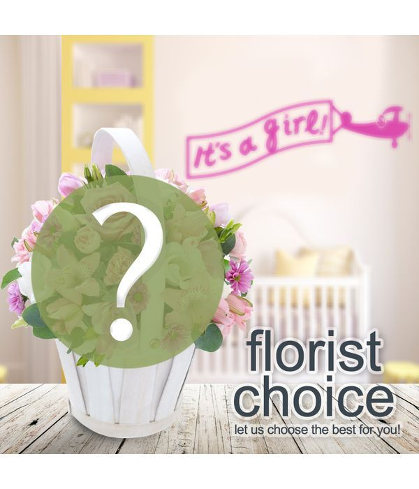 Designer's Choice. Bouquet of Newborn Baby Girl