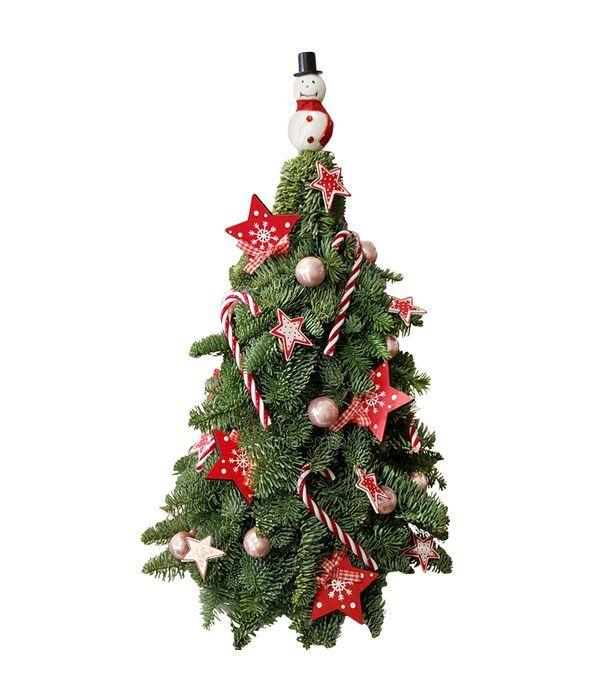 Φυσικό Χριστουγεννιάτικο δέντρο με χιονάνθρωπο