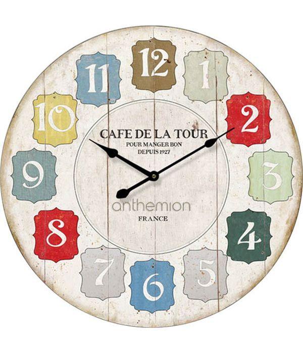 """Ρολόι τοίχου """"CAFE DE LA TOUR"""""""