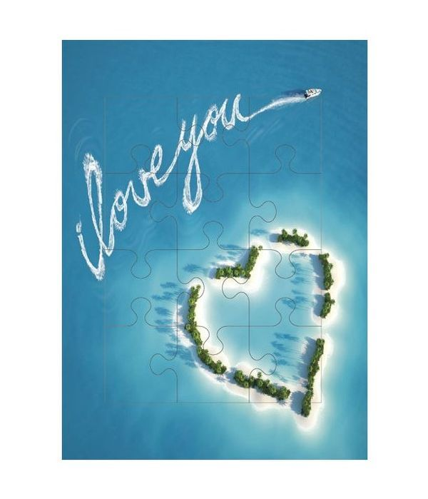 Eυχετήρια κάρτα παζλ i love you