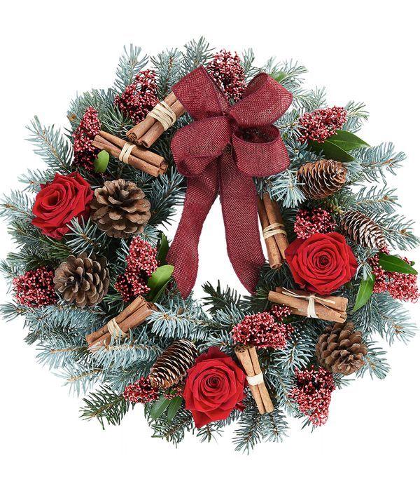 Rocking Rose Door Wreath