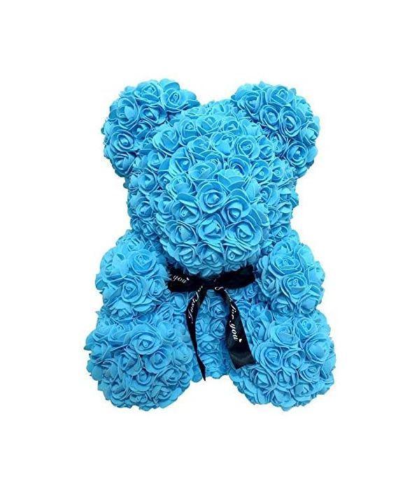 Αρκούδος από τριαντάφυλλα μπλε 25εκ.