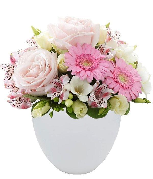 Σύνθεση σε λευκό/ροζ