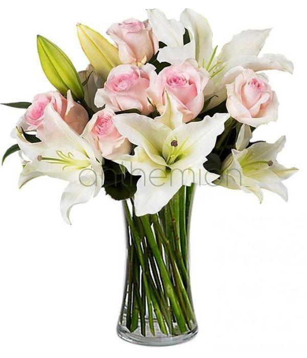 Lovely pink and white bouquet