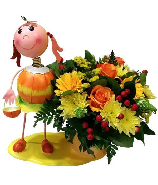Μεταλλικό κοριτσάκι με άνθη