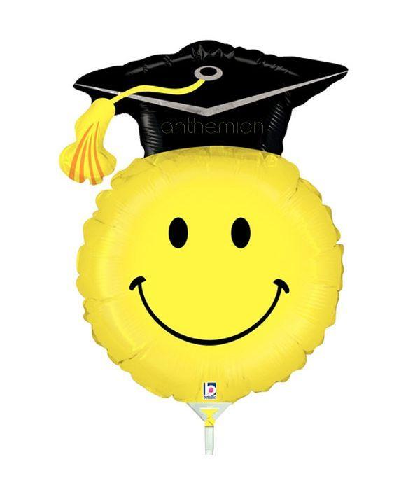 Μπαλόνι Smile για αποφοίτηση σε στικ 35εκ.