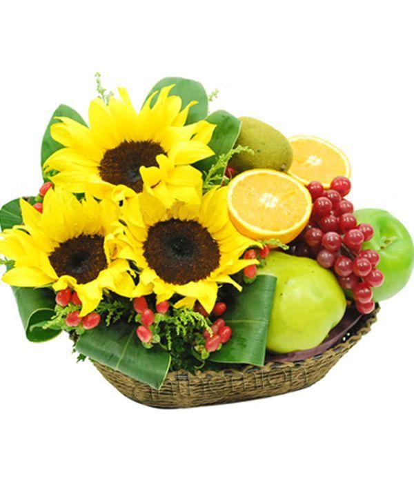 Ηλίανθοι και Φρούτα