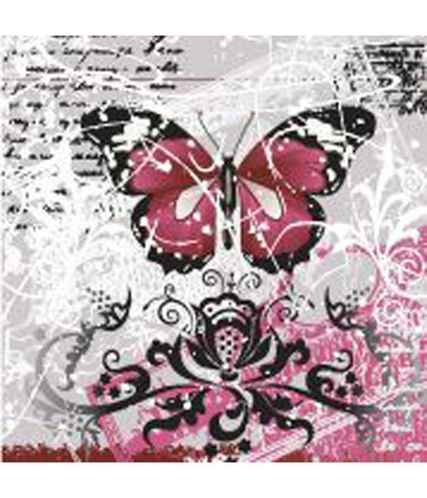 """Ευχετήρια κάρτα """"Πεταλούδα"""" 6x6 εκ"""