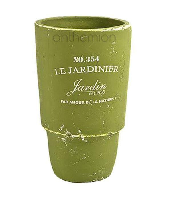 Ceramic vase olive/green color