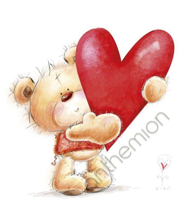 Ευχετήρια κάρτα αρκουδάκι με καρδιά