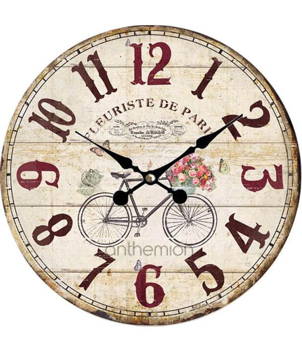 Vintage bike wall clock