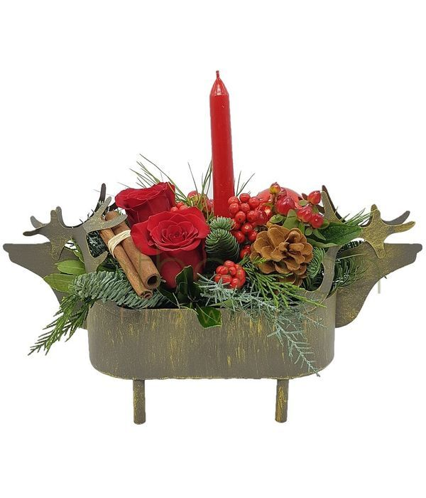 Christmas reindeer arrangement